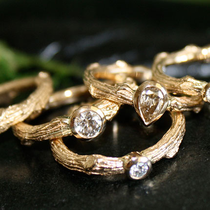 Twig Rings, Delicately Crafted By the Hand of Mother Nature