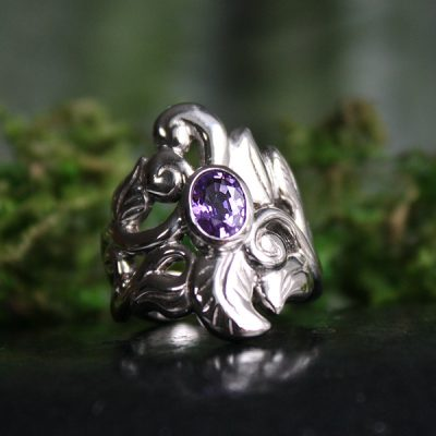 Harmony, white gold Sapphire ring