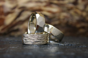 Men's Wedding Bands in 14k White Gold