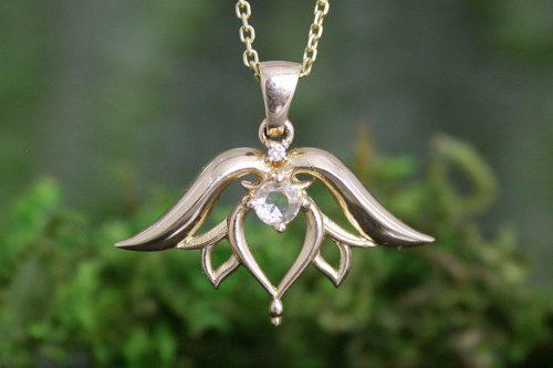 Angel Wing Lotus Flower Pendant