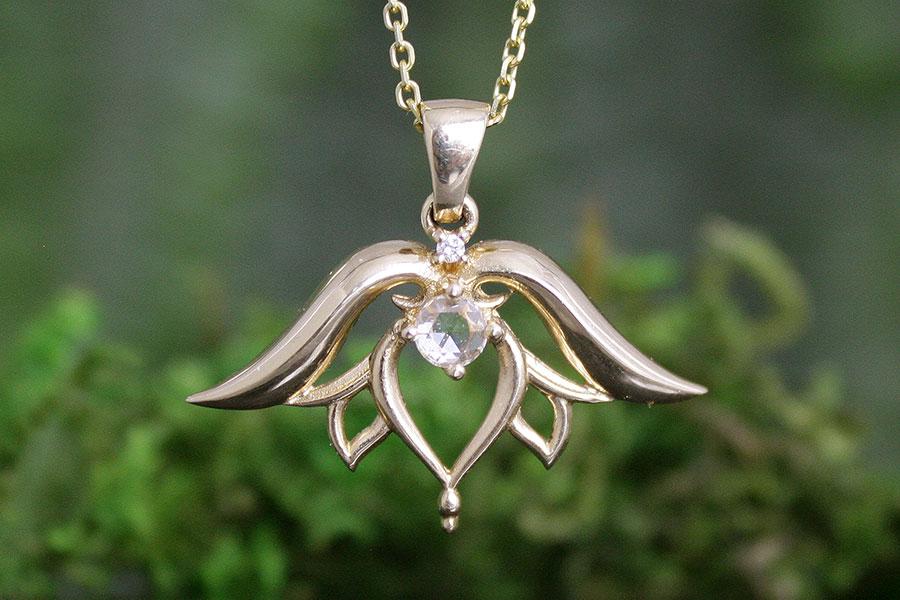 Rose Cut Diamond Lotus Flower Pendant Melissa Caron Jewellers