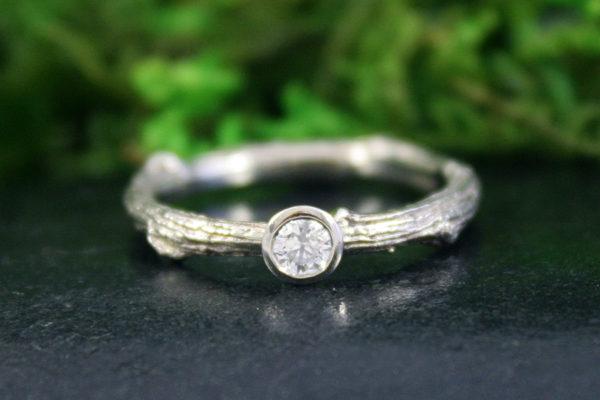 Diamond Enchanted Oak Branch Ring