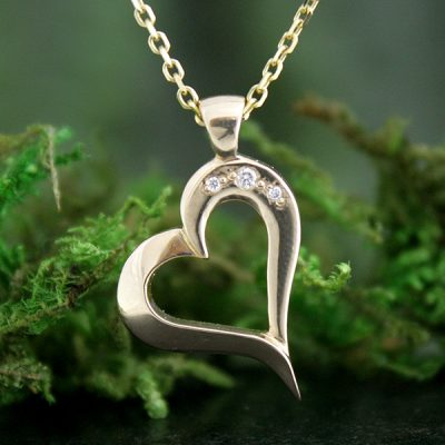 Heart's Desire Diamond Pendant
