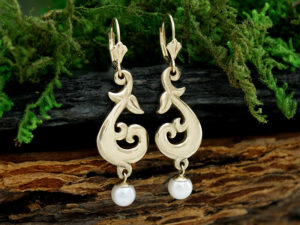 Mermaid's Tale Pearl Drop Earring