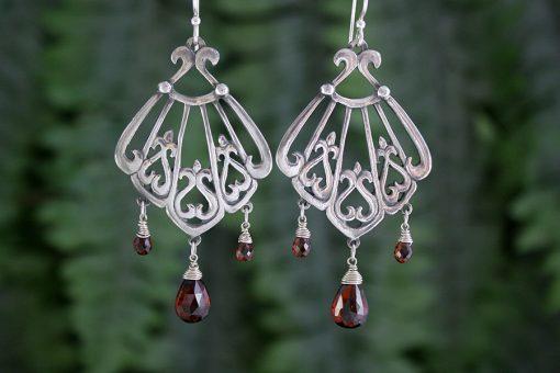 Asherah Garnet Earrings