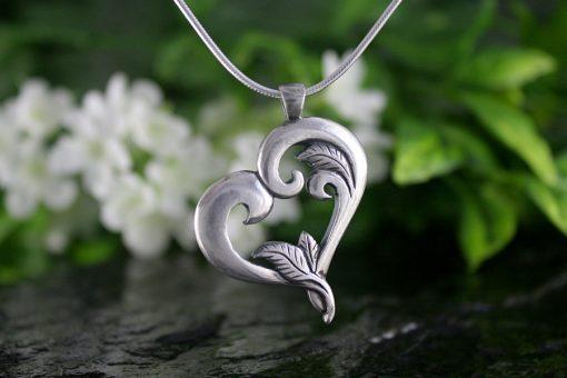 Heart's Embrace Silver Heart Pendant