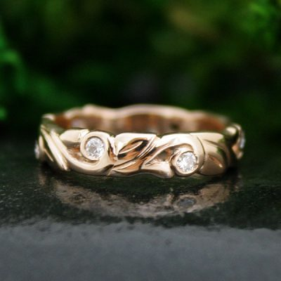 Ahtena Rose Gold Wedding Band