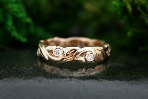 Ahtena Rose Gold Wedding Band
