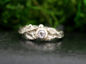 Sitka Ring with Pink Diamond in White Gold