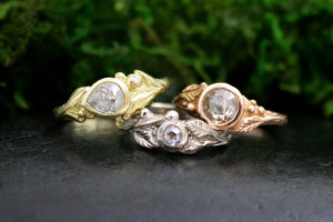 Forest Nymph Rings with Diamonds