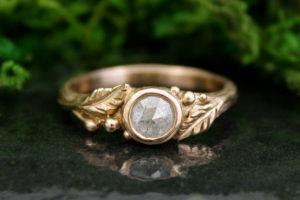 Madrone Rose Cut Diamond Ring