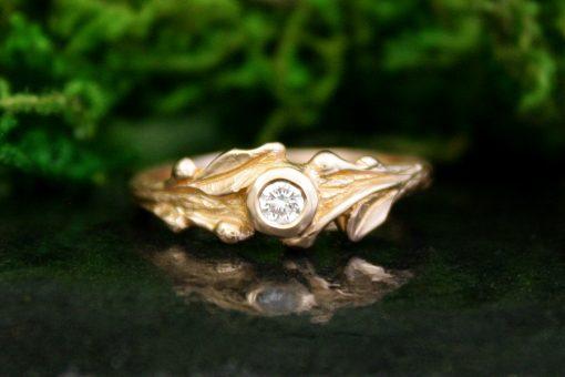 Sprig Diamond Ring in 14k Rose Gold