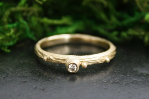 Bubbles Stacking Ring in 18k Gold