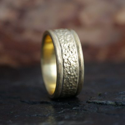 Lunar Landscape Men's Wedding Band