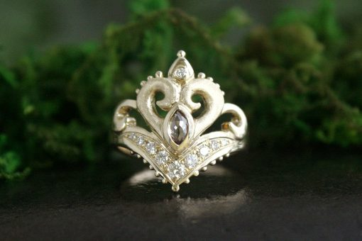 Jasmine Rose Cut Champagne Diamond Ring