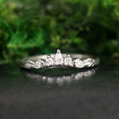 Diamond Tiara Style Ring in 14k White Gold