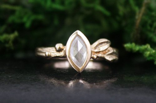 Marquise Rose Gold Diamond Ring