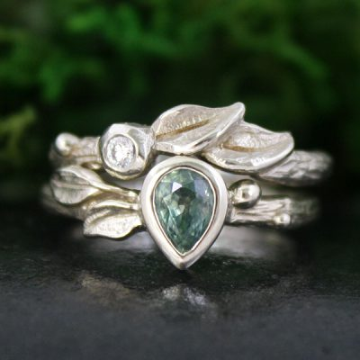 Morning Mist Bridal Ring Set