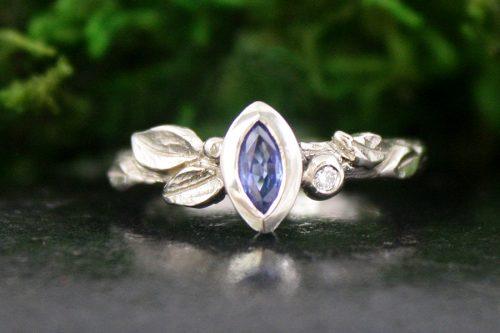 Sapphire Climbing Ivy Ring