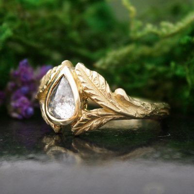 Willow Pear Diamond Ring
