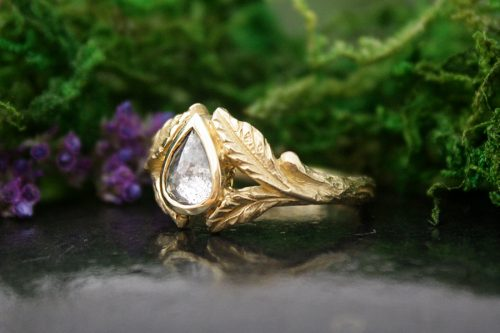 Willow Pear Diamond Ring