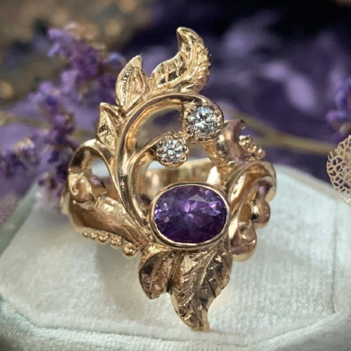 The Dream Weaver Ring from Sketch to Completion
