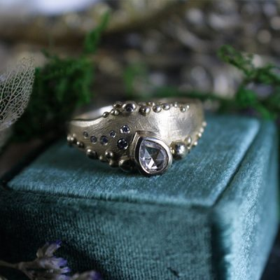Rising Tide Rose Cut Diamond Ring