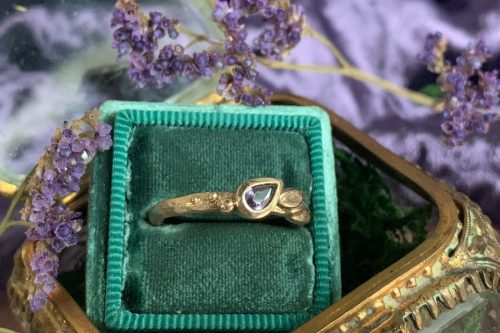 Purple Sapphire Pixie Ring in 14k Gold