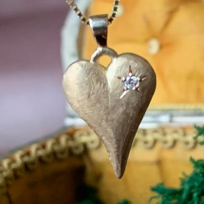 Rustic Love Gold Heart Pendant