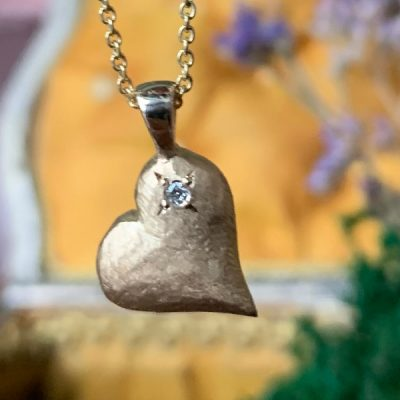 Sweet Heart 14k Gold Heart Pendant