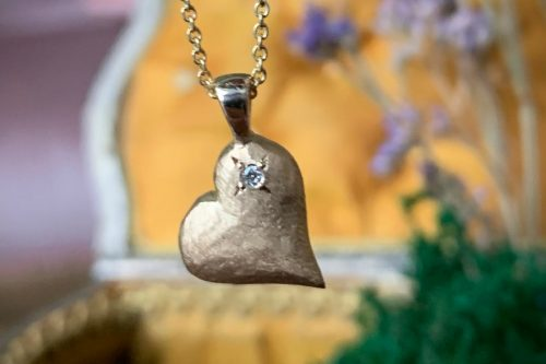 Sweet Heart 14k Gold Heart Pendant