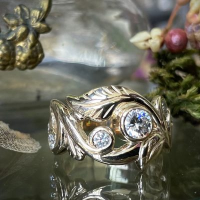 Wanderlust Multi Diamond Ring in 14k Gold