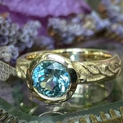 Colette Ring with Aquamarine in 14k Gold