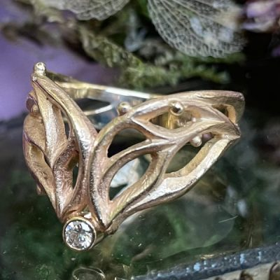 Seasons Ring in 14K Gold with Diamond
