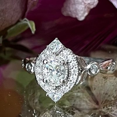 Ice Queen Diamond Halo Ring